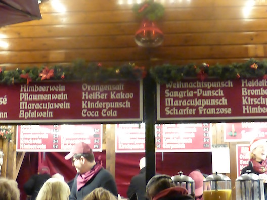 Christmas markets food booth
