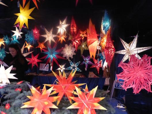 Christmas markets star lights