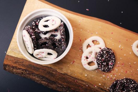Whole Foods Market peppermint pretzels