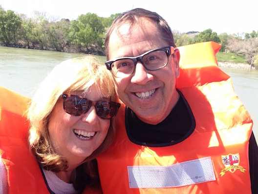 Lois and Michael lifejackets