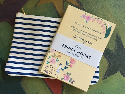The Fringe Hours greeting cards