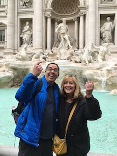 Lois and Michael Trevi Fountain 2