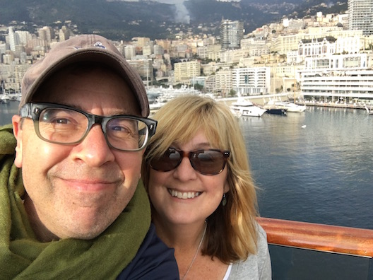 Lois and Michael on Viking Star