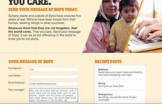 CARE message of hope
