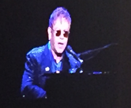 Elton John at Hillary Clinton