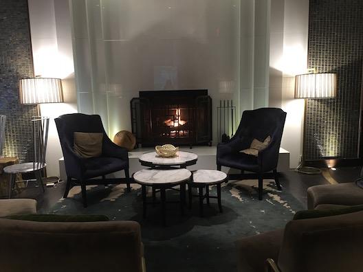 Kimpton Palomar Philadelphia fireplace
