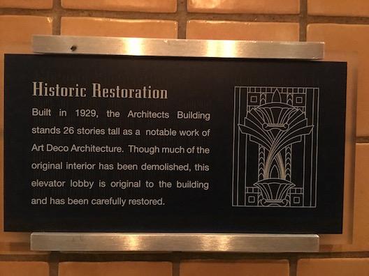 Kimpton Palomar Philadelphia plaque