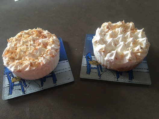 Marie Callender's pies on tiles
