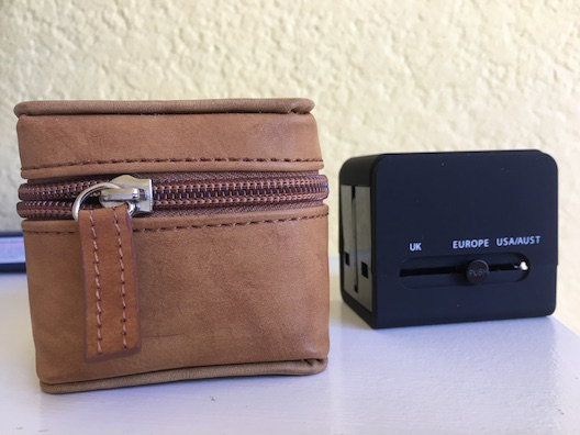 Olive and Cocoa adapter and case