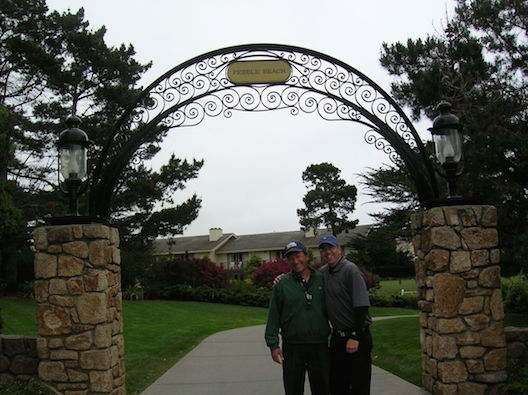 Michael and Pete Pebble Beach