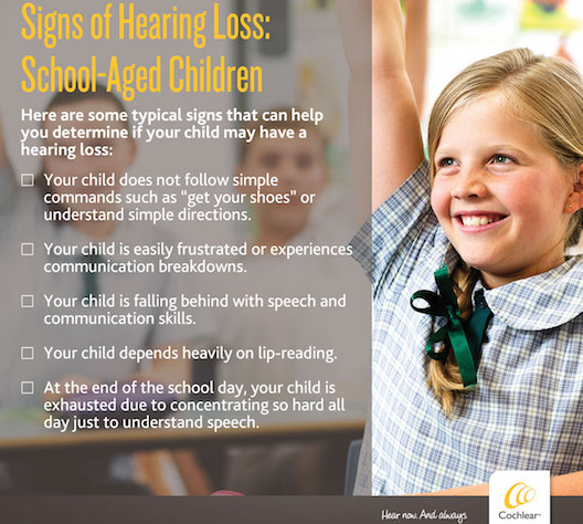 Cochlear - hearing loss school-aged kids