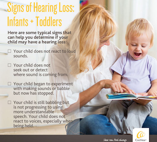Cochlear - signs of hearing loss babies