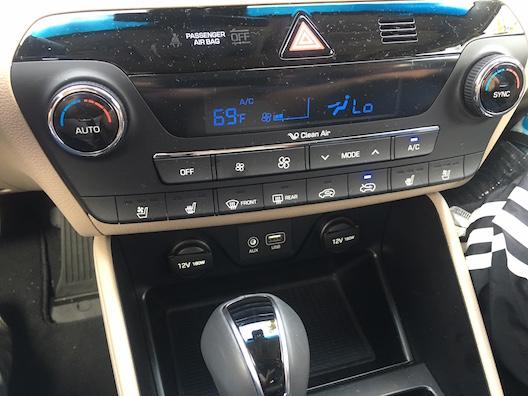 Hyundai Tucson temperature