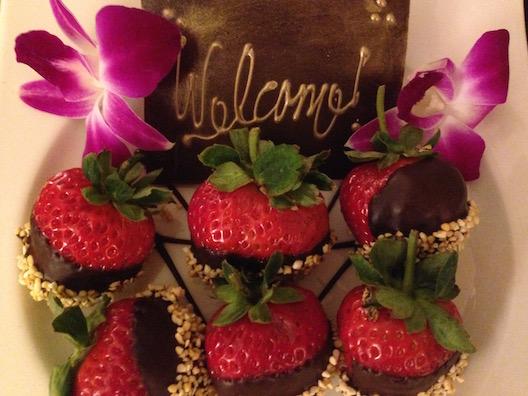 Langham chocolate strawberries