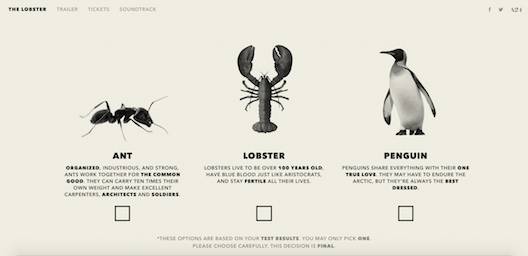 The Lobster animals