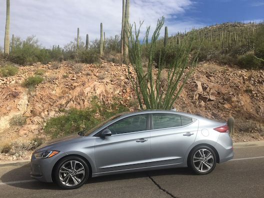 Hyundai Elantra Camelback desert