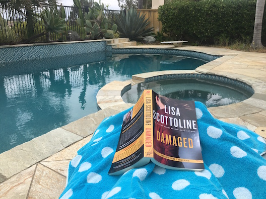 Reading by the pool