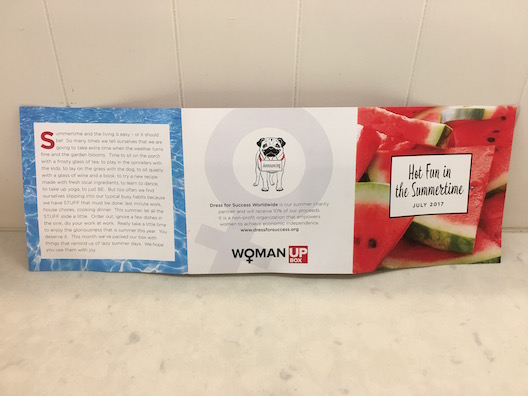 Woman Up trifold